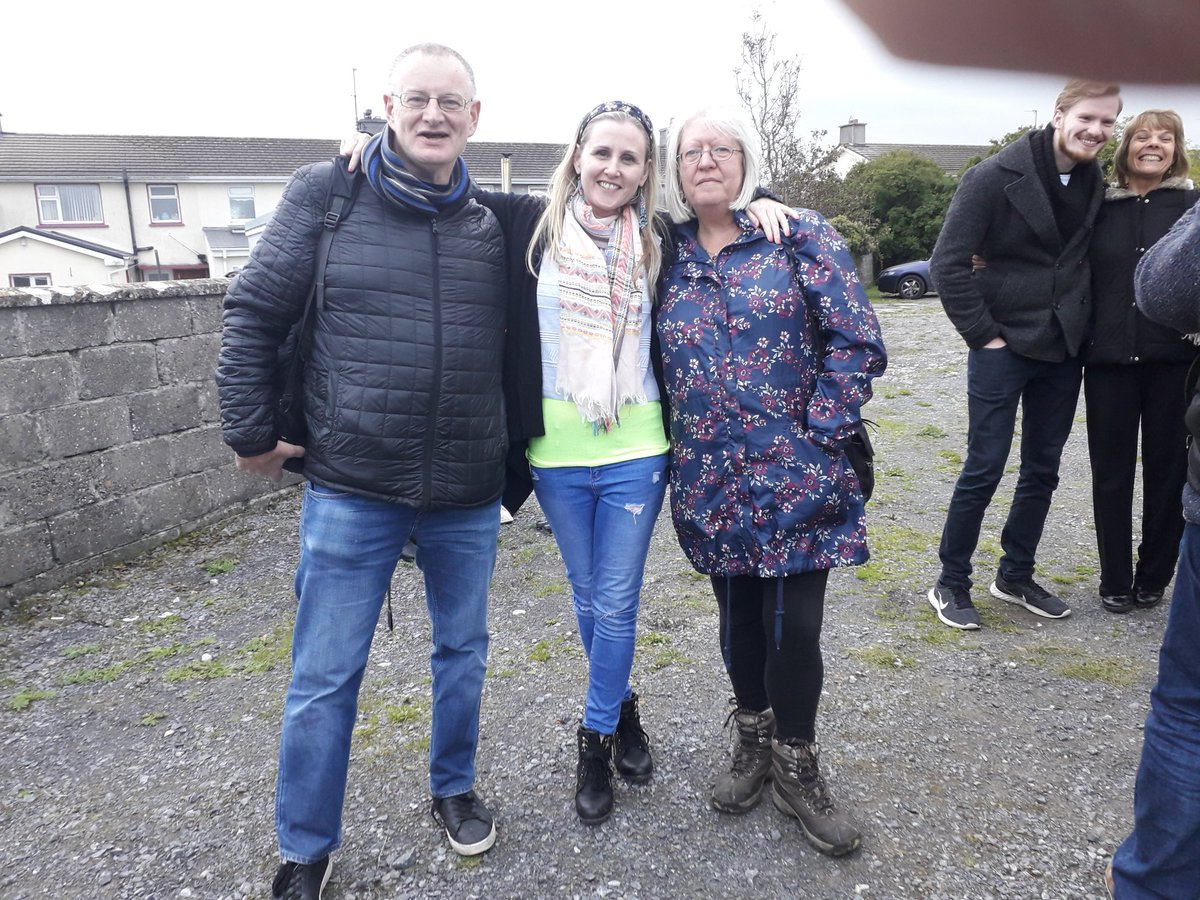 With Alison O'Reilly and Anna Corrigan at the site on Saturday